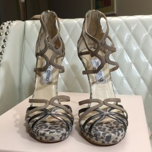 Jimmy Choo Florida Leopard Suede Sandals